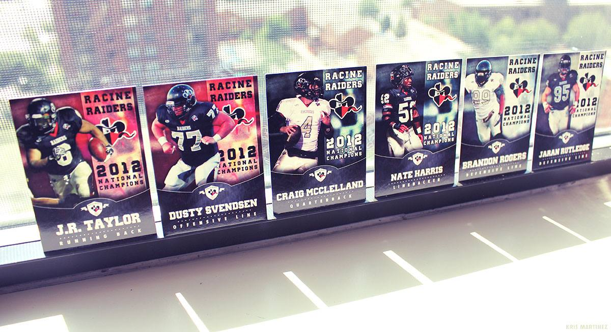 Photo: Racine Raiders Trading Cards