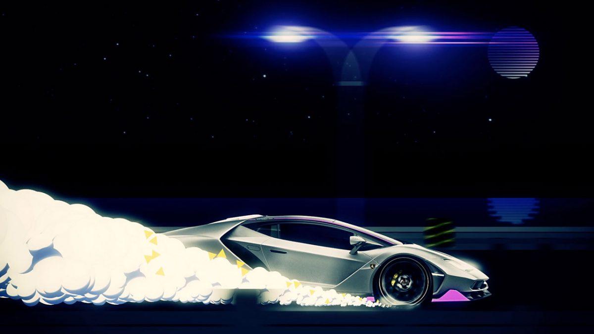 Photo: Purple Lamborghini